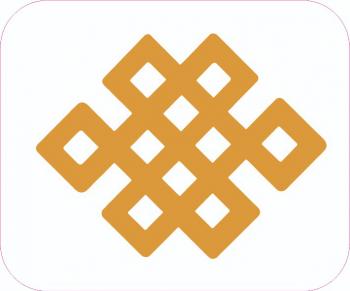 Abtibild cu nod mistic auriu remediu Feng Shui din PVC 60 mm lungime