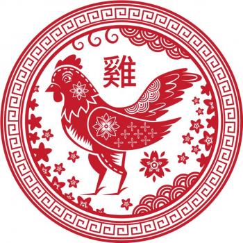Abtibild cu zodia Cocos - mic remediu Feng Shui din PVC 50 mm lungime