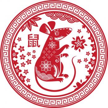 Abtibild cu zodia sobolan - mic remediu Feng Shui din PVC 50 mm lungime