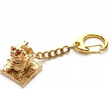 Amuleta cu Pi Yao Pi Xie remediu Feng Shui din Alama 75 mm lungime