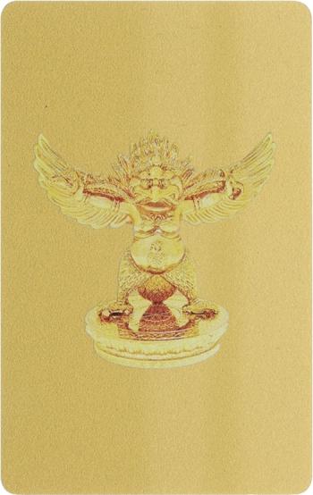 Card Feng Shui cu Pasarea Garuda remediu Feng Shui din PVC 80 mm lungime