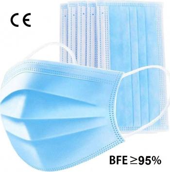 Cutie 50 masti de protectie BFE95 din 3 straturi cu tija nazala ajustabila