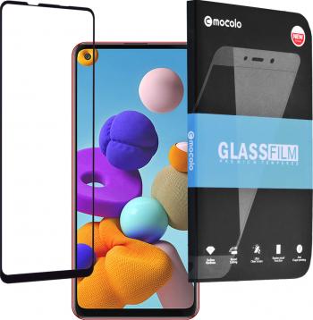 Folie de sticla compatibil cu Mocolo Samsung Galaxy A21S Negru Folii Protectie