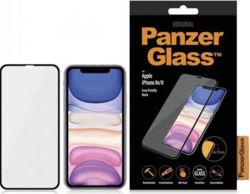 Folie Sticla Panzer pentru iPhone Xr/11 Negru
