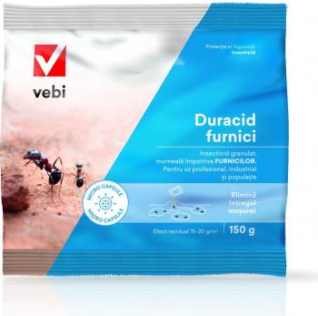 Insecticid profesional granule Duracid furnici 150 gr pentru interior si exterior Articole antidaunatori gradina