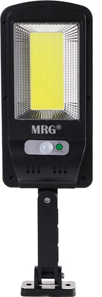 Lampa solara stradala MRG M-6037 Panou solar 100 LED Cob Negru Corpuri de iluminat