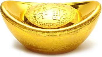 Pepita aurie mare remediu Feng Shui din Plastic 55 mm lungime