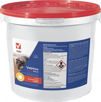 Raticid profesional otrava cuburi cerate Vebitox Broma Block 5 kg anti soareci si sobolani Articole antidaunatori gradina