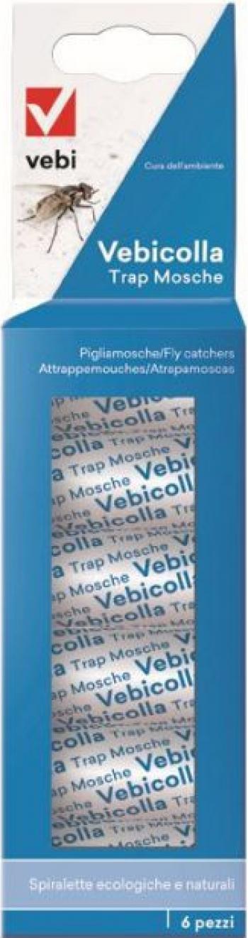 Set 6 x capcane - banda adeziva pentru muste Vebicolla Articole antidaunatori gradina