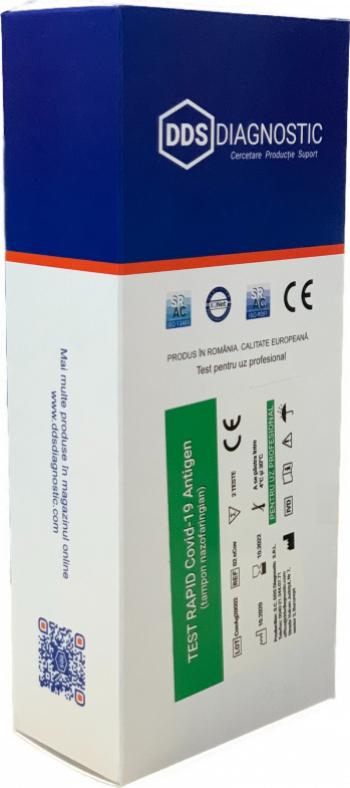 Test Rapid Covid-19 Antigen Avizat ANMR 2 teste + 50 buc masti medicale 1 cutie Teste rapide covid anticorpi antigen
