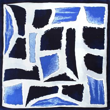 Batic dama poliester 50 x 50 cm Albastru