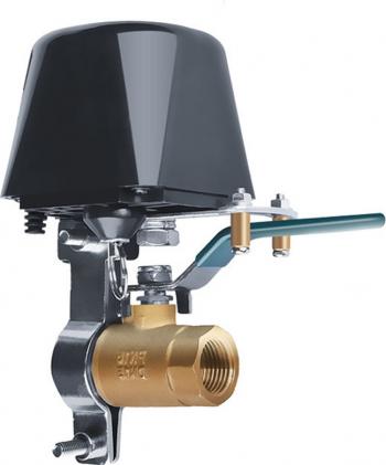 Electrovalva cu colier ajustabil 1/4 - 1 pentru tevi de gaz/apa cu actionare automata WiFi si telecomanda compatibil Tuya/Smartlife