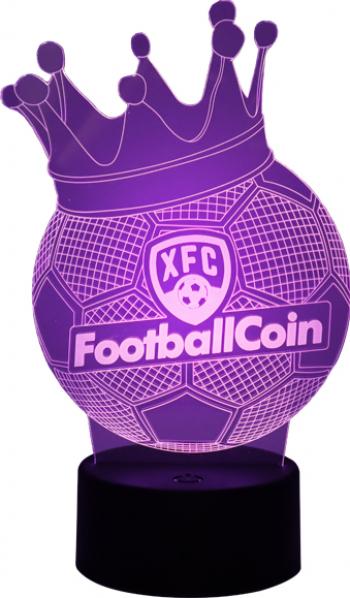 Lampa LED FootballCoin 3D Night Light 16 culori RGB cu telecomanda cu touch Gadgeturi