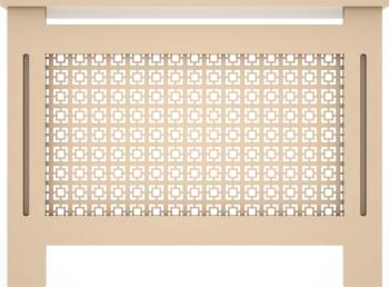 Masca de calorifer din MDF vopsit model 003 1120x828x203 mm bej Accesorii mobilier