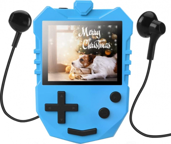 MP3 Player AGPTEK pentru Copii 8 GB Ecran TFT LCD de 1 8 inch cu difuzor si casti Player muzical portabil Radio FM cronometru de repaus