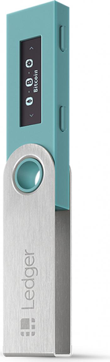 Portofel electronic Ledger Nano S Albastru pentru Bitcoin Ethereum Ripple si alte criptomonede Gadgeturi