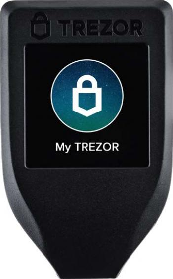 Portofel electronic TREZOR MODEL T negru pentru Bitcoin Ripple Ethereum Dogecoin Dash ZCash Monero si altele Gadgeturi