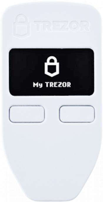 Portofel electronic TREZOR ONE alb pentru Bitcoin Ethereum Dogecoin Dash ZCash Stellar si altele Gadgeturi