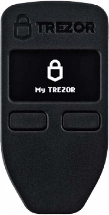 Portofel electronic TREZOR ONE negru pentru Bitcoin Ethereum Dogecoin Dash ZCash Stellar si altele Gadgeturi