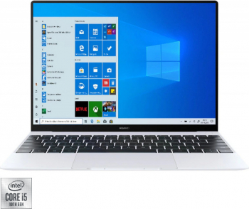 Ultrabook Huawei Matebook X Intel Core (10th Gen) i5-10210U 512GB SSD 16GB 3K Touch Win10 T.Ilum. FPR Silver Frost Laptop laptopuri