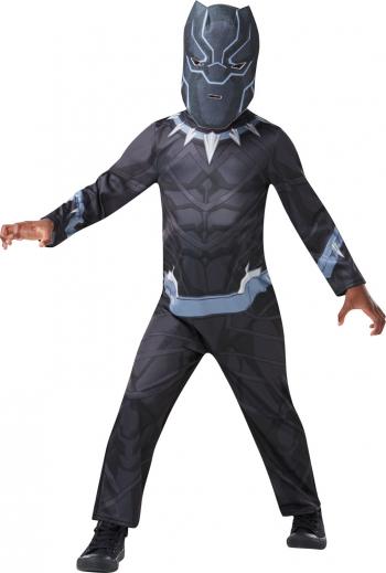 Costum copii Black Panther Pantera Neagra marimea S 3-4 ani masca inclusa Costume serbare