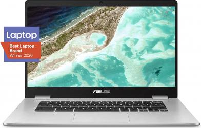 Laptop ultraportabil ASUS Chromebook C523 15.6 HD NanoEdge Display Intel Dual Core Celeron N3350 Processor 4GB RAM 32GB eMMC Resigilat