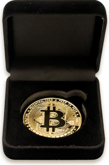 Moneda colectie Bitcoin in cutie de prezentare Cadouri