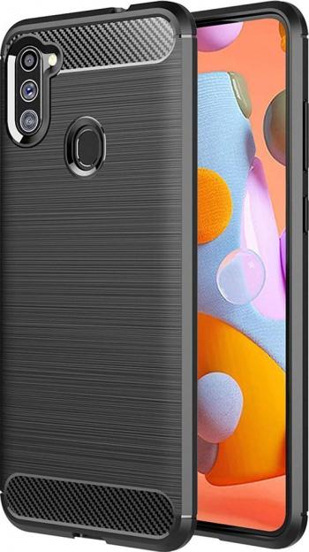 Husa de protectie Carbon Case Samsung Galaxy A11/M11 Negru