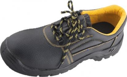 Pantofi de protectie Bryes S1 SRC din piele naturala cu bombeu metalic si talpa antiderapanta negru/marime 39 Articole protectia muncii