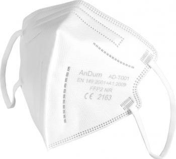 Masca Alba FFP2 pentru copii 5 straturi Conforma cu CE 2163 ambalata individual Masti chirurgicale si reutilizabile