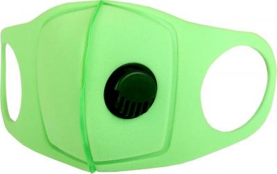 Masca and nbsp culoare Verde reutilizabila si lavabila cu valva Masti chirurgicale si reutilizabile