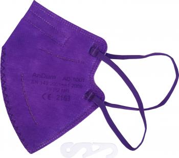 Masca Mov FFP2 pentru copii 5 straturi Conforma cu CE 2163 ambalata individual Masti chirurgicale si reutilizabile