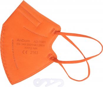 Masca Portocalie FFP2 pentru copii 5 straturi Conforma cu CE 2163 ambalata individual Masti chirurgicale si reutilizabile