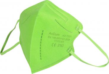 Masca Verde FFP2 pentru copii 5 straturi Conforma cu CE 2163 ambalata individual Masti chirurgicale si reutilizabile