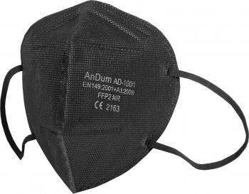 Set 5 Masca Neagra FFP2 model and nbsp AD-1001 5 straturi Conforma cu CE Masti chirurgicale si reutilizabile