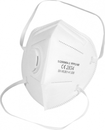 Set 5 Masti FFP2 cu ValvaSupapa Ambalate individual Certificate CE Albe Masti chirurgicale si reutilizabile