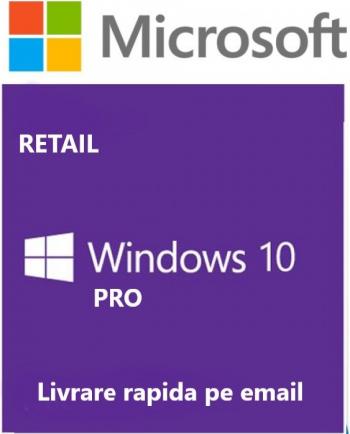 WINDOWS 10 Pro retail toate limbile licenta permanenta persoane fizice si juridice 32/64
