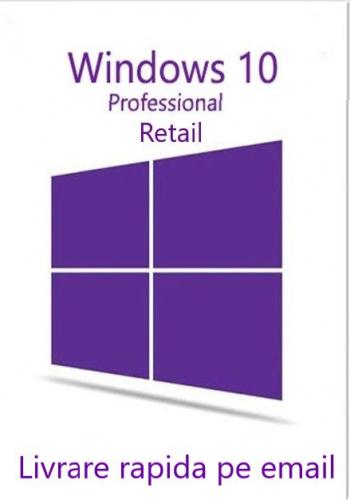 WINDOWS 10 Pro retail all languages 3264 persoane fizice si juridice licenta permanenta Sisteme de operare