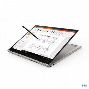 Ultrabook 2in1 Lenovo ThinkPad X1 Titanium Yoga Intel Core (11th Gen) i7-1160G7 512GB SSD 16GB Iris Xe QHD Touch Win10 Pro Tast. ilum. FPR Laptop laptopuri