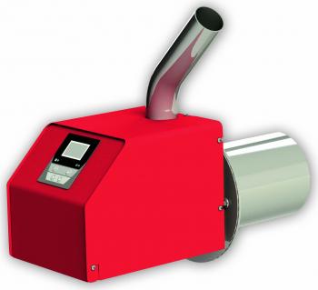 Arzator pe peleti BURNIT PELL ECO 55 kW snec de alimentare 4 senzori aprindere si alimentare automata flansa pentru prindere pe cazan