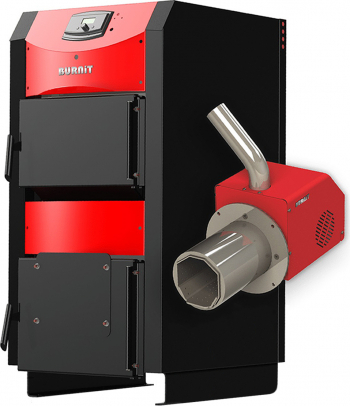 Centrala mixta lemn si peleti Burnit WBS AC 50 kW si Arzator pe peleti Pell Eco 35 kW Centrale pe lemne