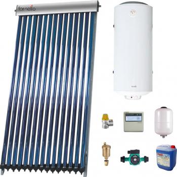Pachet Economic Sistem solar presurizat panou Fornello 15 Tuburi Heat Pipe boiler termoelectric tanc in tanc cu rezistenta electrica