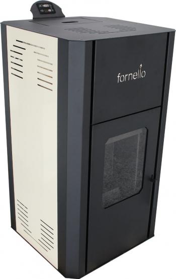 Termosemineu pe peleti Fornello Primo Pellet Ivory 30 kw complet echipat cu pompa de circulatie vas expansiune supapa de siguranta buncar Termoseminee