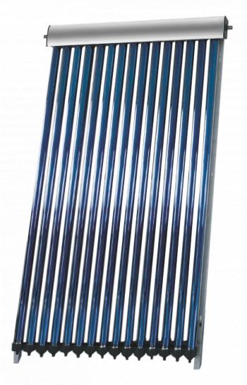 Panou colector solar presurizat cu tuburi vidate Heat Pipe Fornello 10 tuburi destinat producerii de apa calda menajera montaj pe acoperis