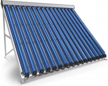 Panou colector solar presurizat cu tuburi vidate Heat Pipe Sunsystem VTC 15 tuburi destinat producerii de apa calda menajera montaj pe