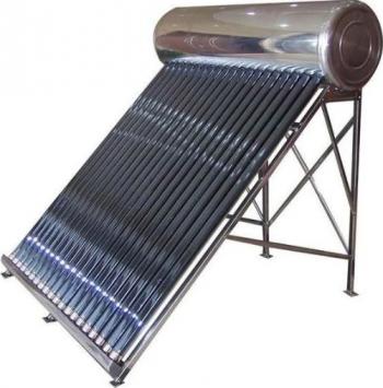 Panou solar nepresurizat Fornello pentru producere apa calda cu rezervor inox 100 litri si 12 tuburi vidate