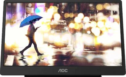 Monitor portabil LED 15.6 AOC 16T2 IPS Full HD Touch 60Hz 4 ms USB C Negru