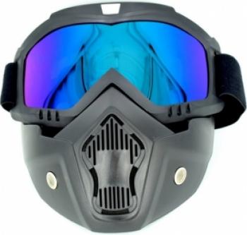 Masca Protectie Fata din Plastic Dur cu Ochelari pentru Moto ATV Motociclete si Scutere