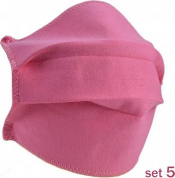 Set 5 Masti Fashion de Protectie Techstar and reg Reutilizabile 2 Straturi Polipropilena Roz