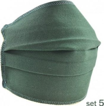 Set 5 Masti Fashion de Protectie Techstar and reg Reutilizabile 2 Straturi Polipropilena Verde